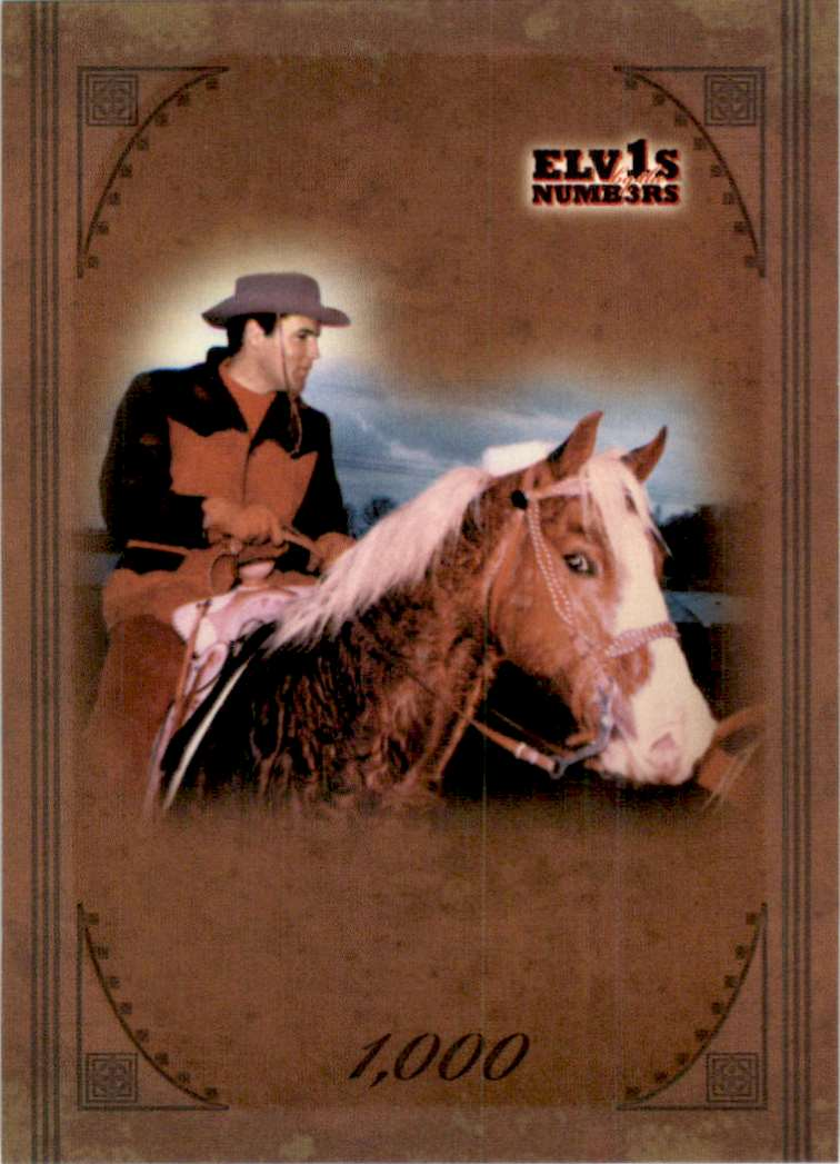 2008 Elvis By The Numbers 1,000 #44 card front image