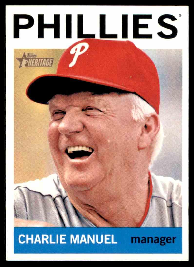 2013 Topps Baseball Heritage Charlie Manuel 157 On