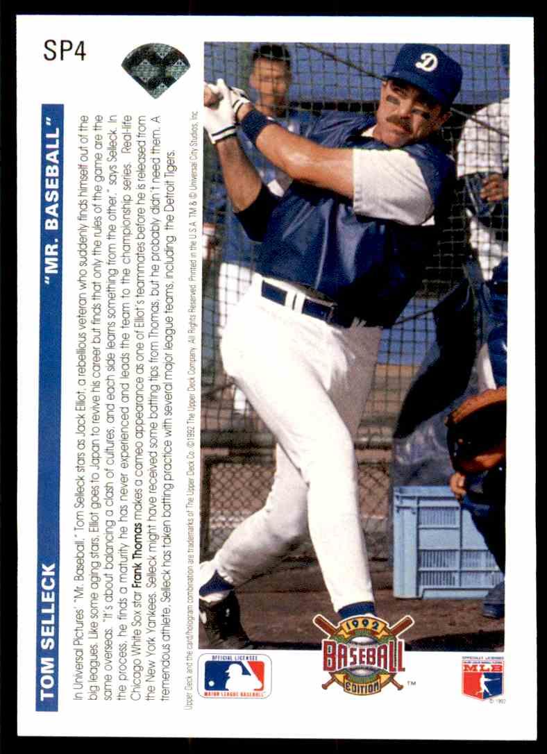 1992 Ud Mr Baseball Tom Selleck Frank Thomas Sp4 On Kronozio
