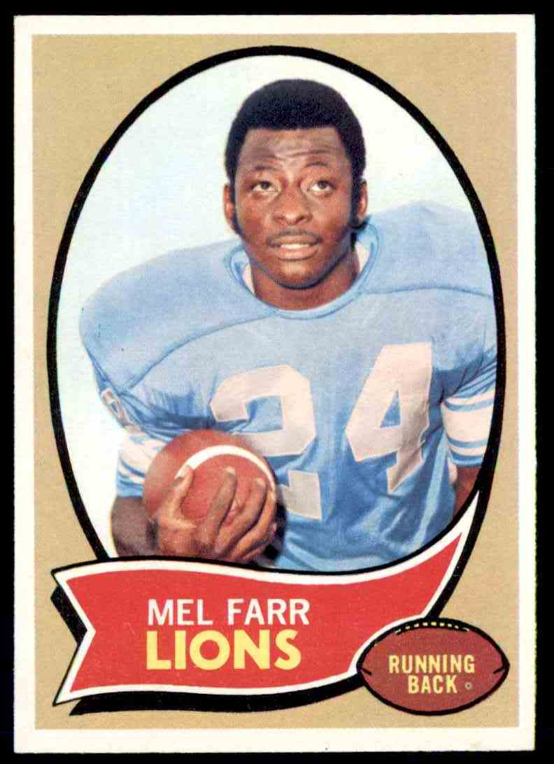 1970 Topps Mel Farr #52 card front image
