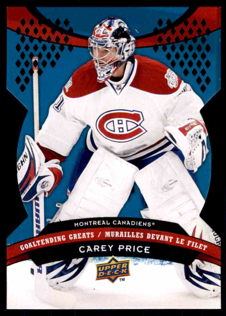2009-10 McDonald's Upper Deck Goaltending Greats Carey Price #GG1 card front image