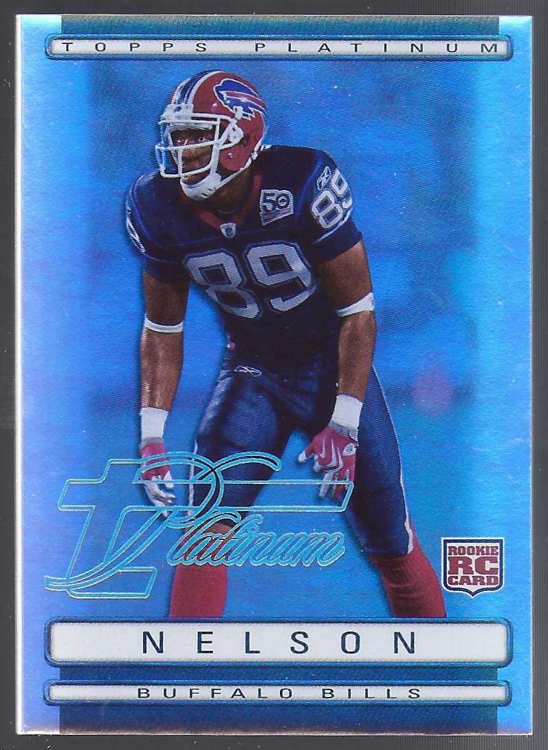 2009 Topps Platinum Rookie Platinum Refractors Shawn Nelson #152 card front image