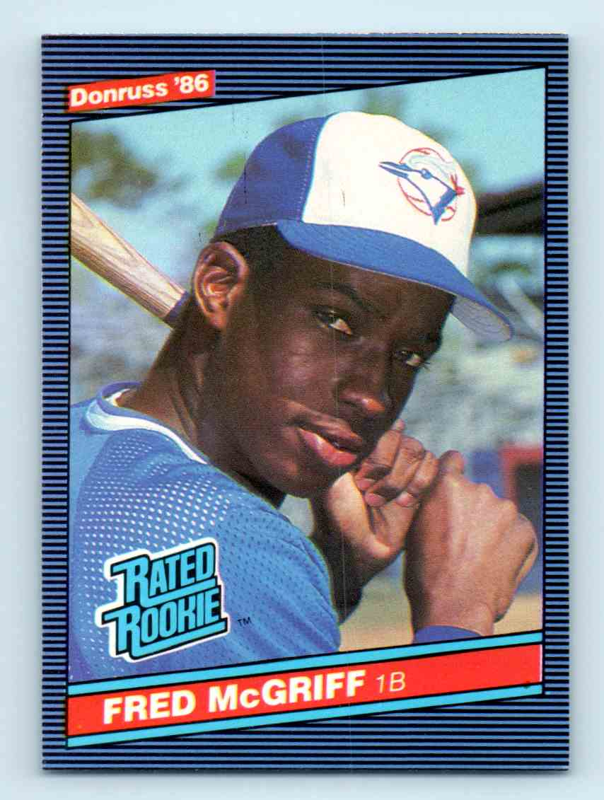 1986 Donruss Fred Mcgriff 28 On Kronozio