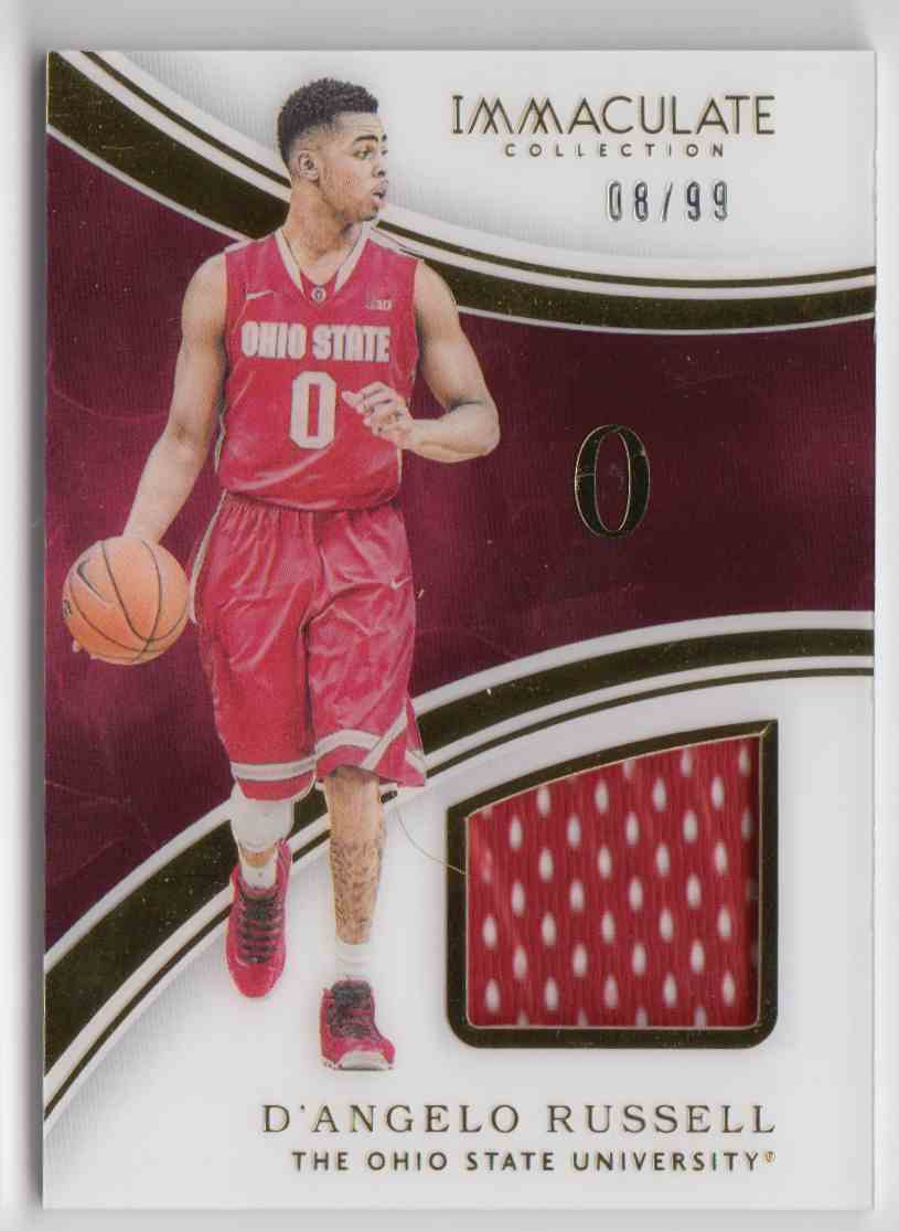 2016-17 Panini Immaculate Collegiate D'Angelo Russell #16 card front image
