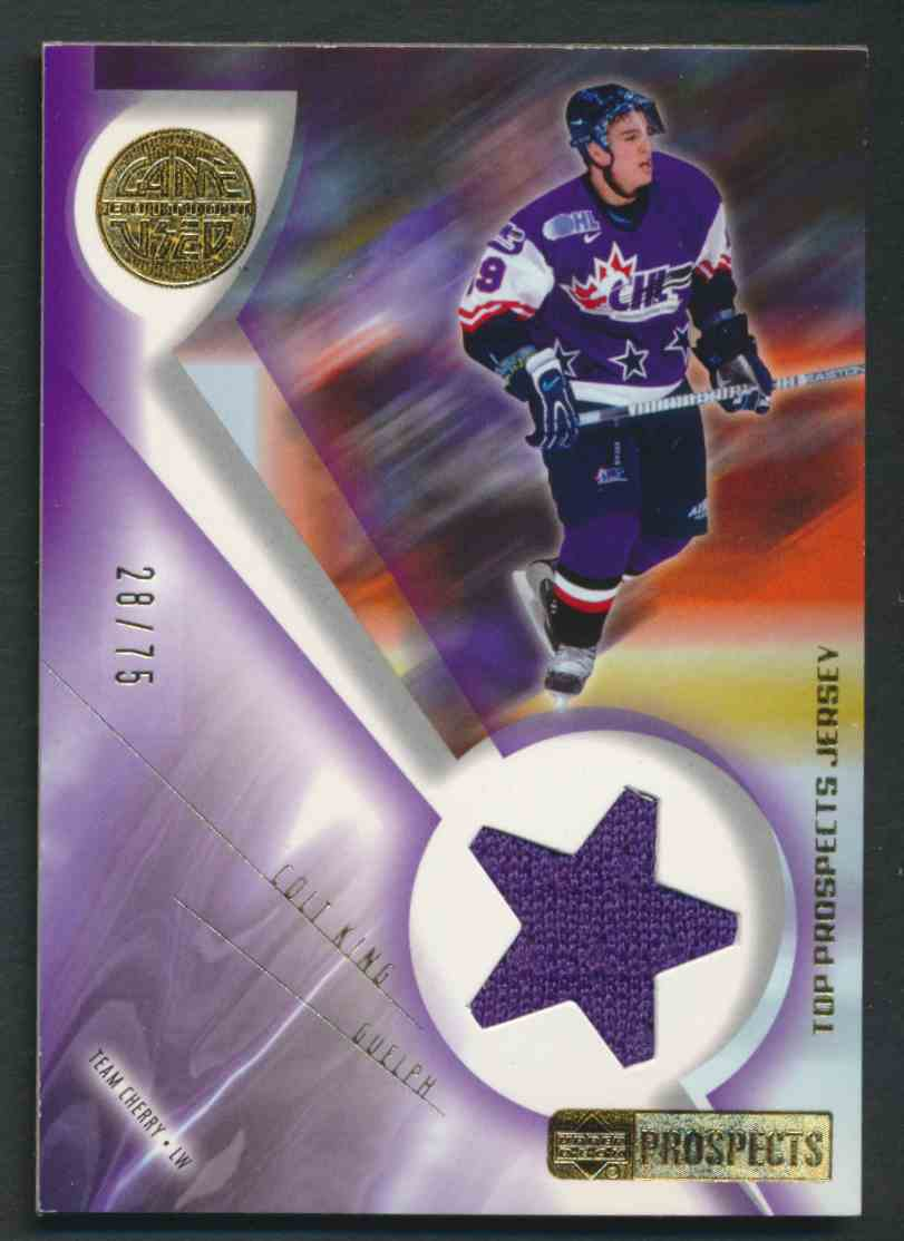 2001-02 Upper Deck CHL Prospects Colt King #J-CK card front image