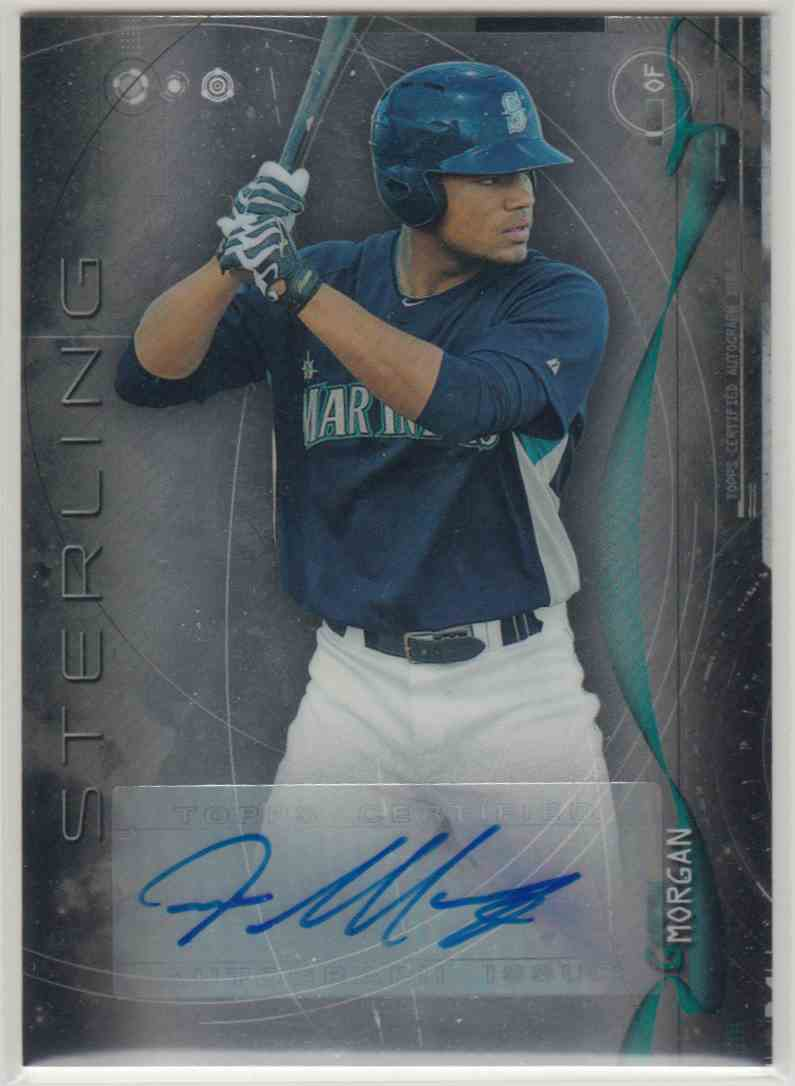 2014 Bowman Sterling Prospect Autographs Gareth Morgan #BSPA-GM card front image