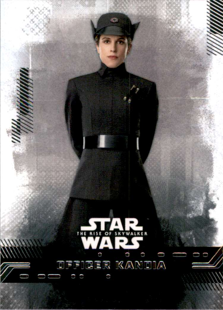 2019 Star Wars The Rise Of Skywalker Series One Officer Kandia #38 card front image