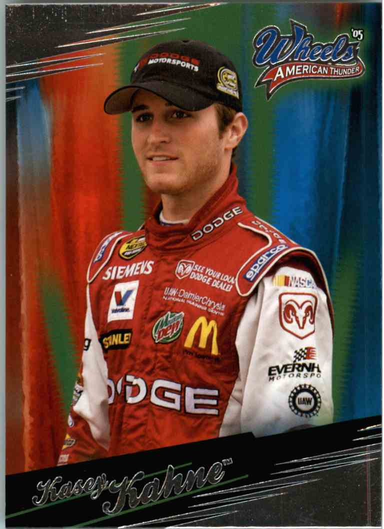 2005 Wheels American Thunder Kasey Kahne #13 card front image