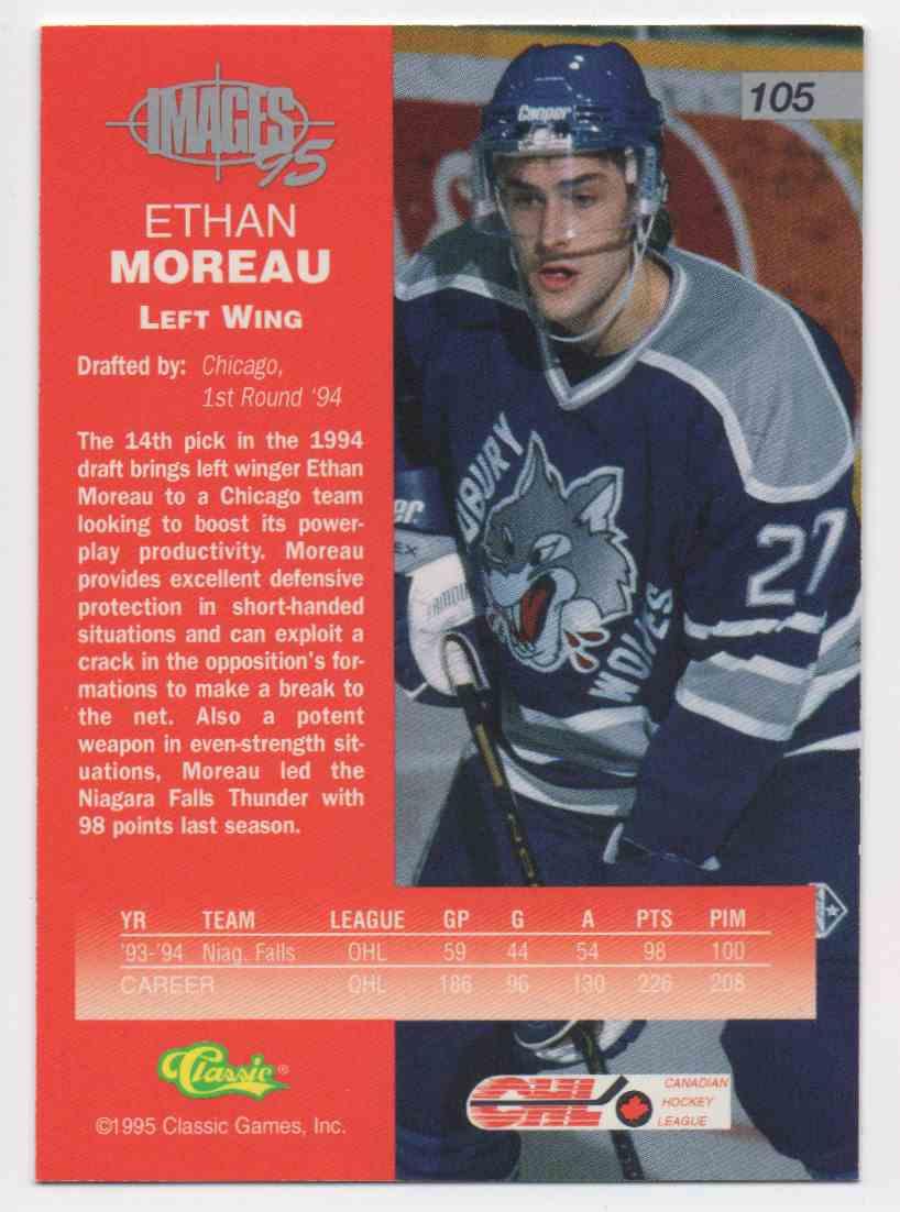 1995 Classic Images Ethan Moreau #105 card back image
