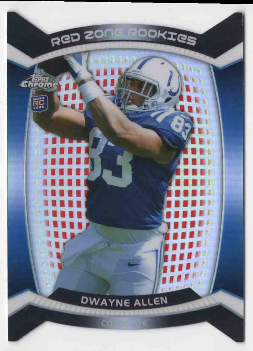 2012 Topps Chrome Red Zone Rookies Refractors Dwayne Allen #8 card front image