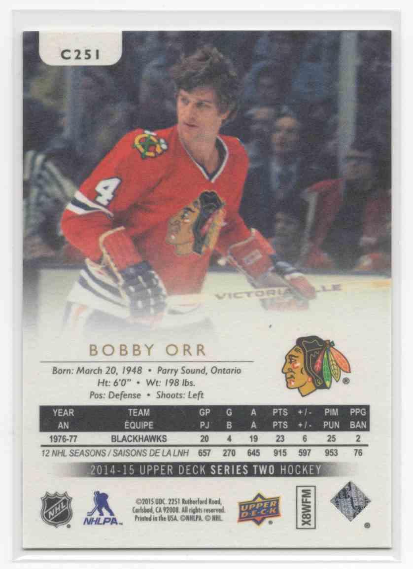 2014-15 Upper Deck Canvas Retired Stars Bobby Orr #C251 card back image