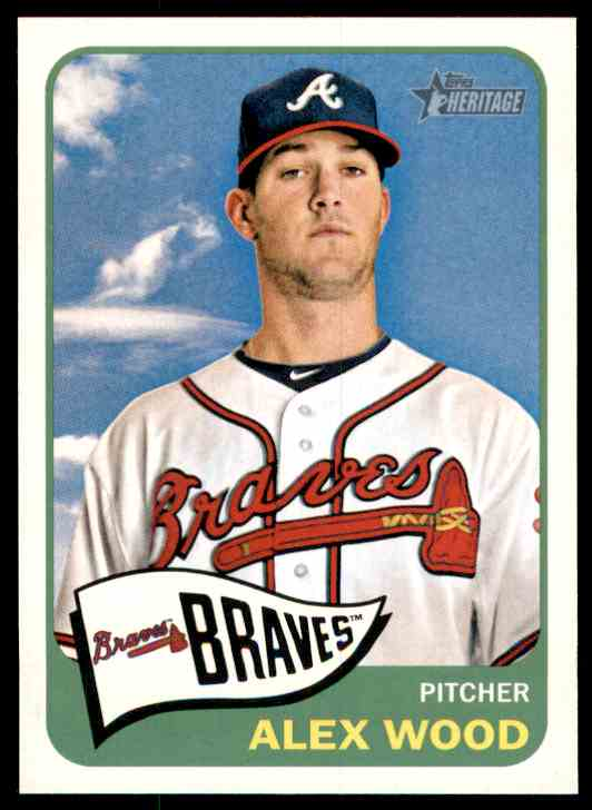 2014 Topps Heritage Alex Wood #423 card front image