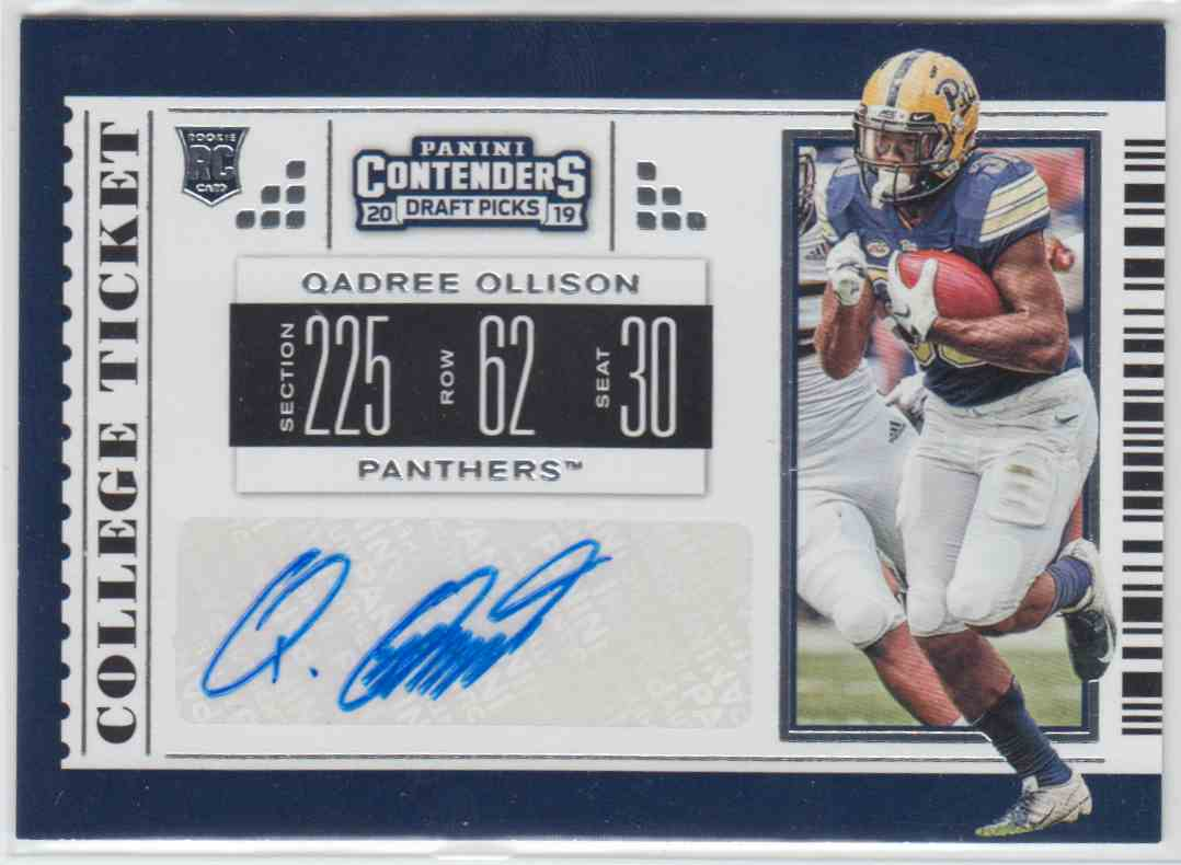 2019 Panini Contenders Draft Picks Rps College Ticket Autograph Qadree Ollison #175 card front image