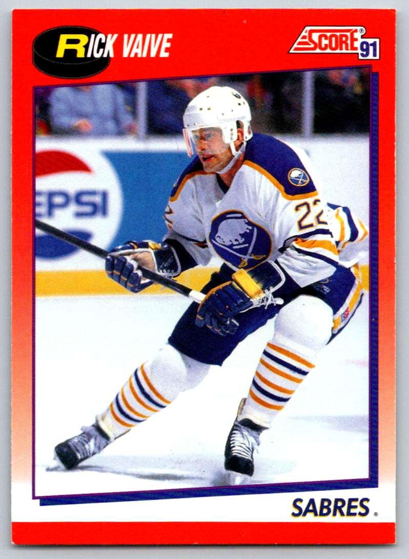 1991-92 Score Canadian Bilingual Rick Vaive #26 card front image