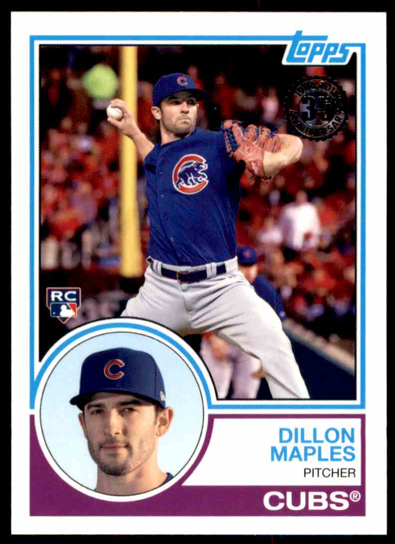 2018 Topps Series 2 1983 Insert Dillon Maples #22 card front image