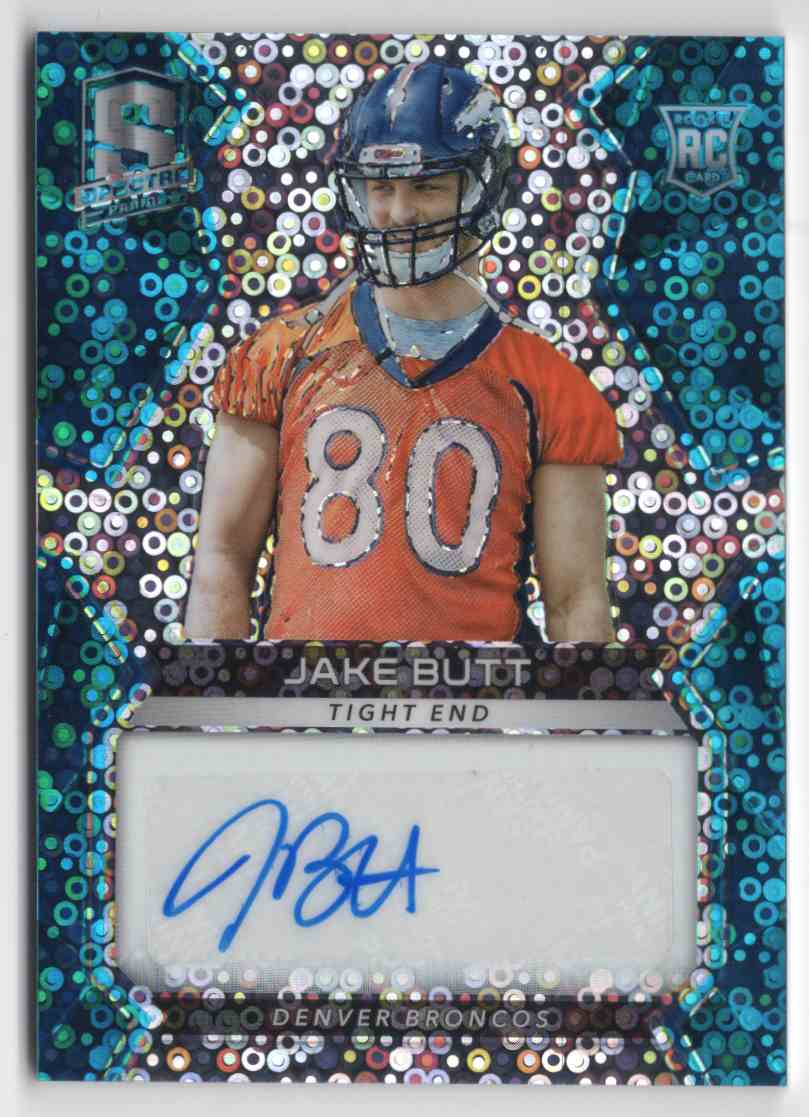 2017 Panini Spectra Neon Blue Jake Butt #191 card front image