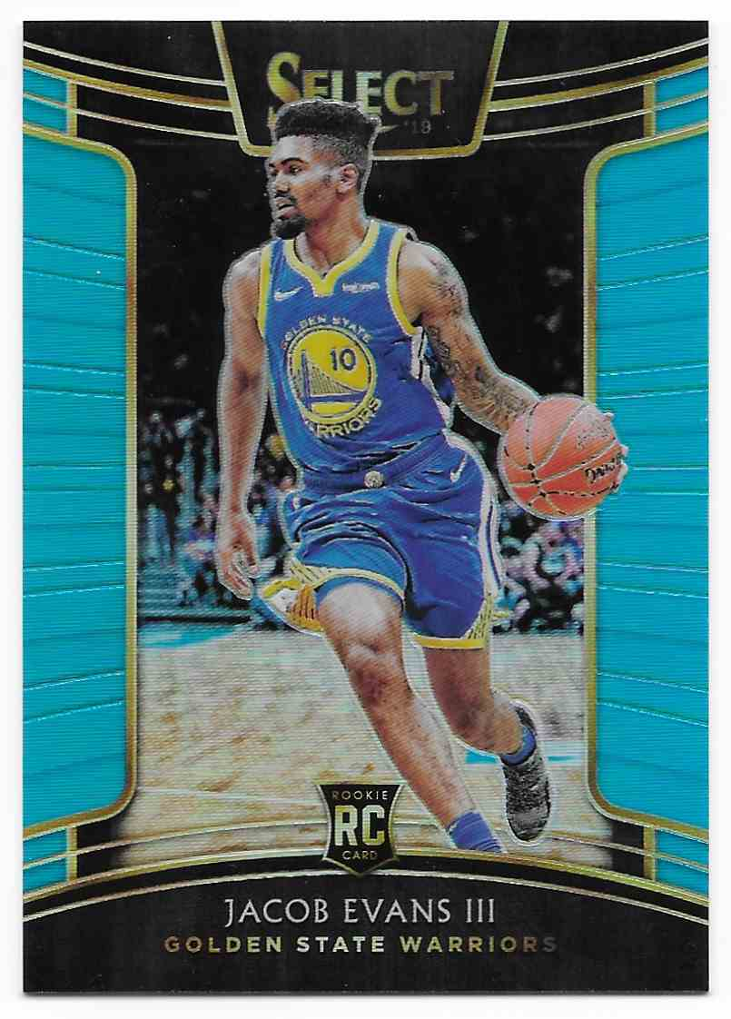 2018-19 Panini Select Light Blue Jacob Evans III #79 card front image