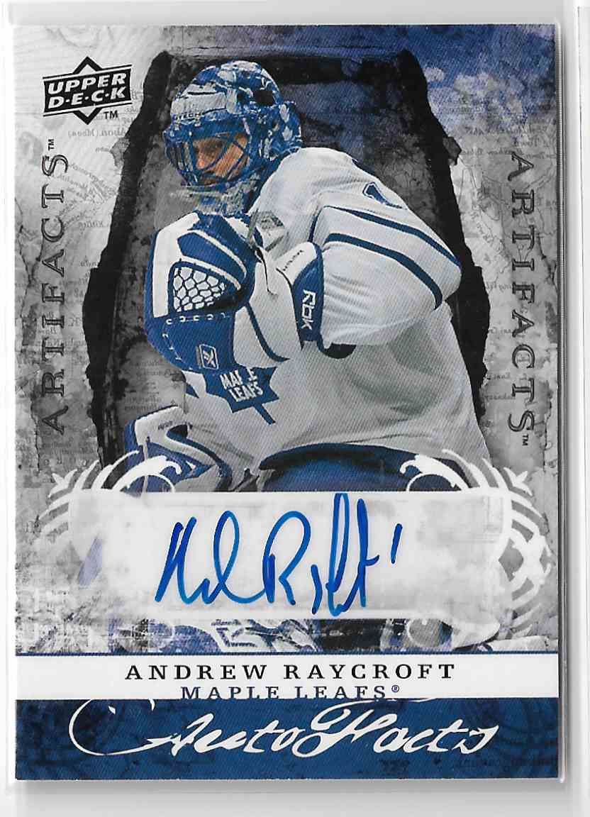 2008-09 Upper Deck Artifacts Autofacts Andrew Raycroft #AF-AR card front image