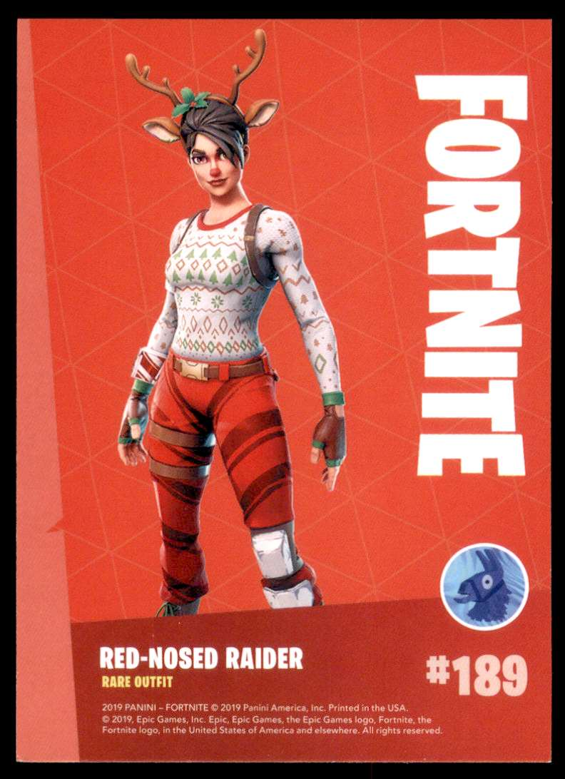 Red-Nosed Raider #189 Rare Outfit Fortnite Epic Games Series 1