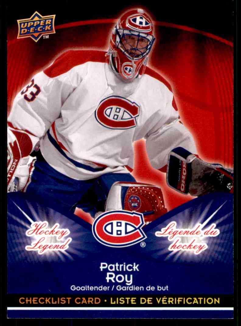 2009-10 Upper Deck McDonald's Patrick Roy #CL1 card front image
