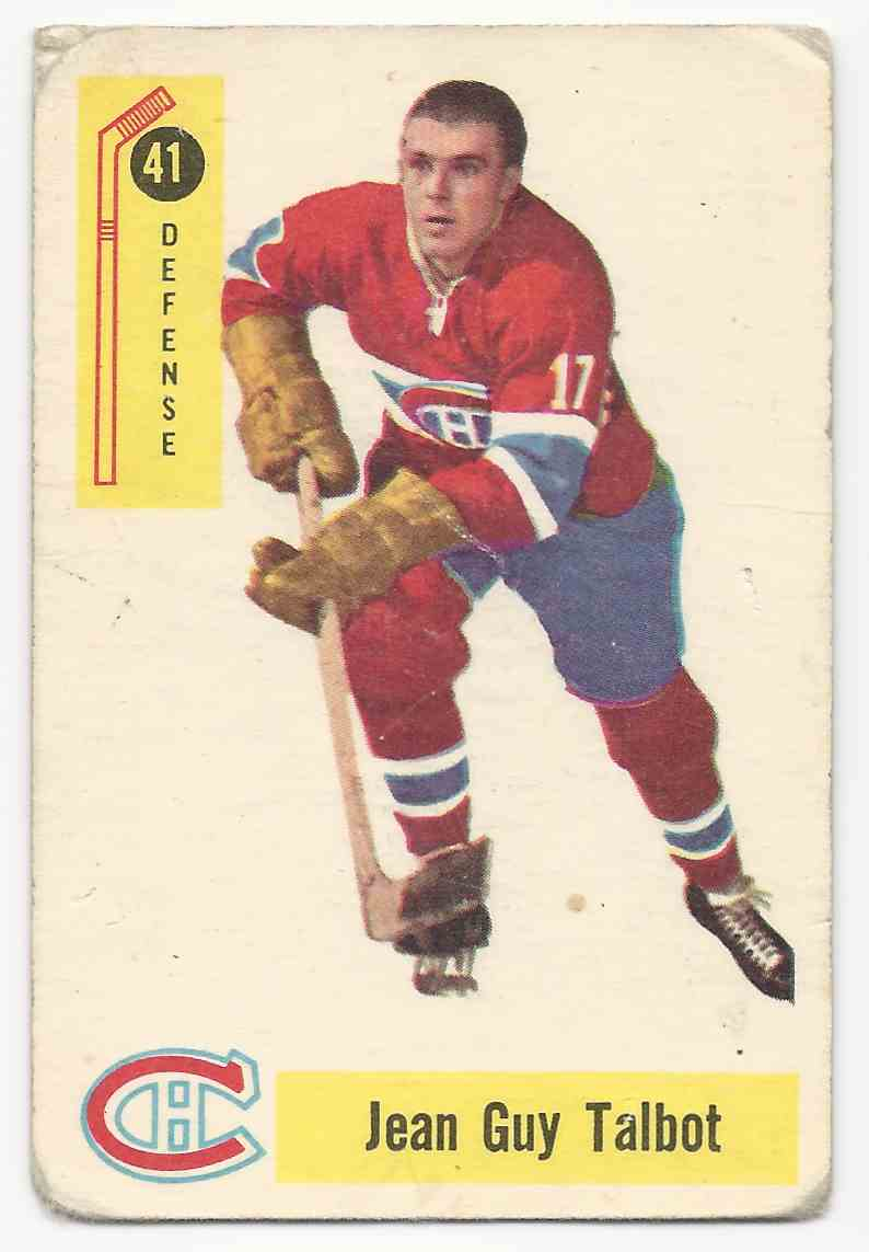 1958-59 Parkhurst Jean-Guy Talbot #41 card front image