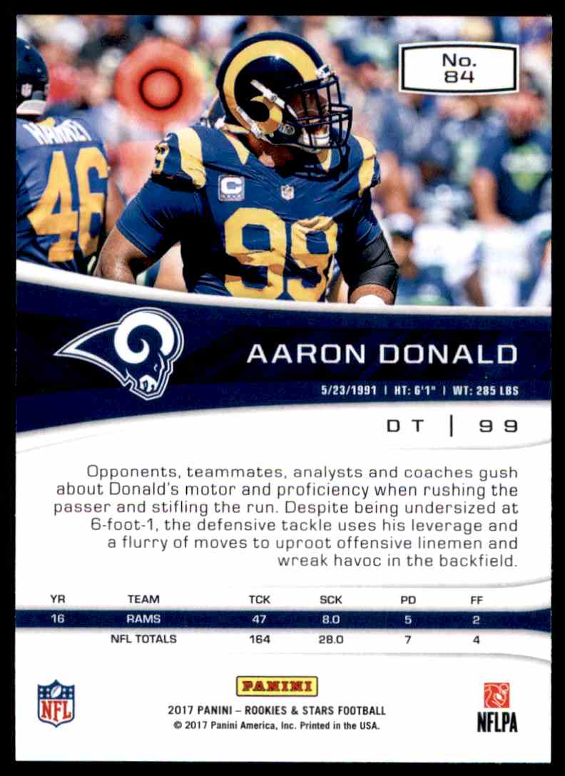 sneakers for cheap a042d b5838 2017 Rookies And Stars Aaron Donald #84 on Kronozio