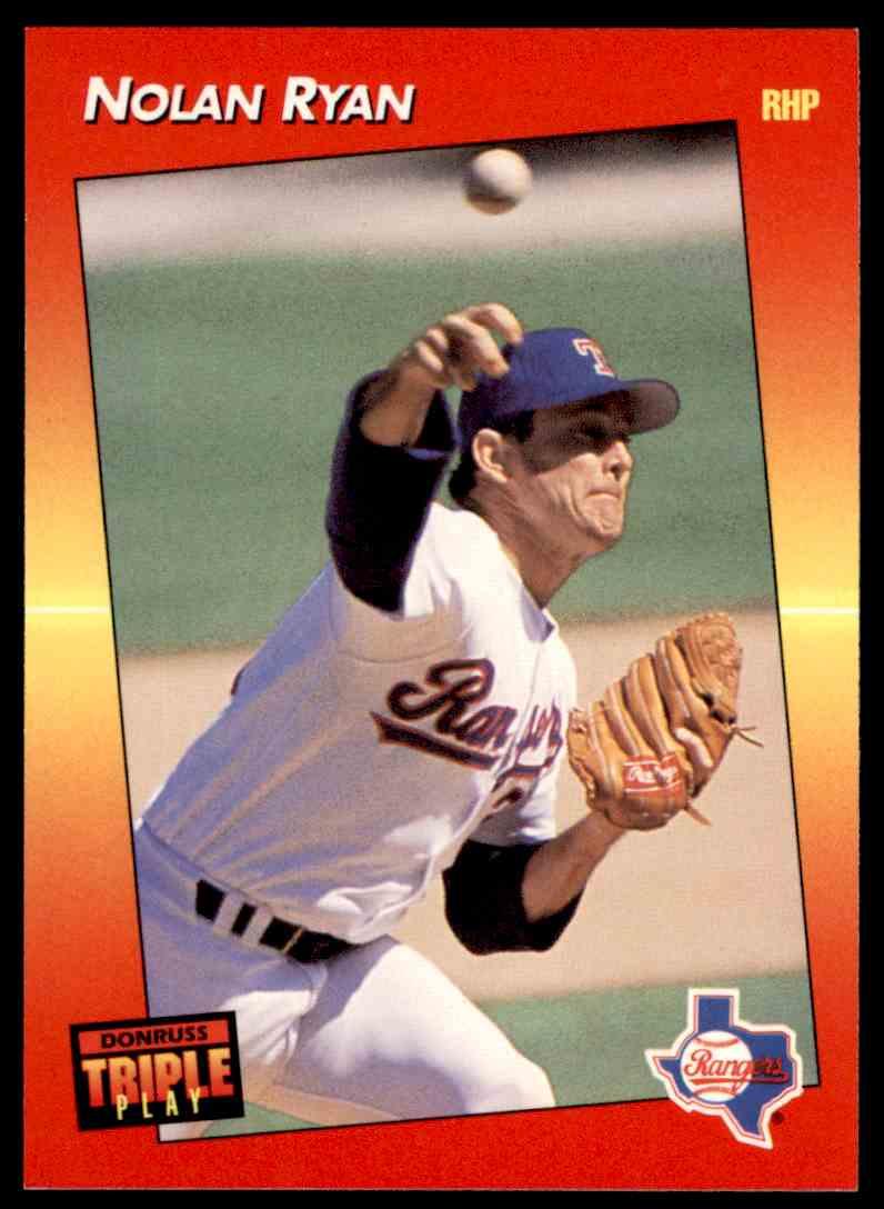1992 Donruss Triple Play Nolan Ryan 22 On Kronozio