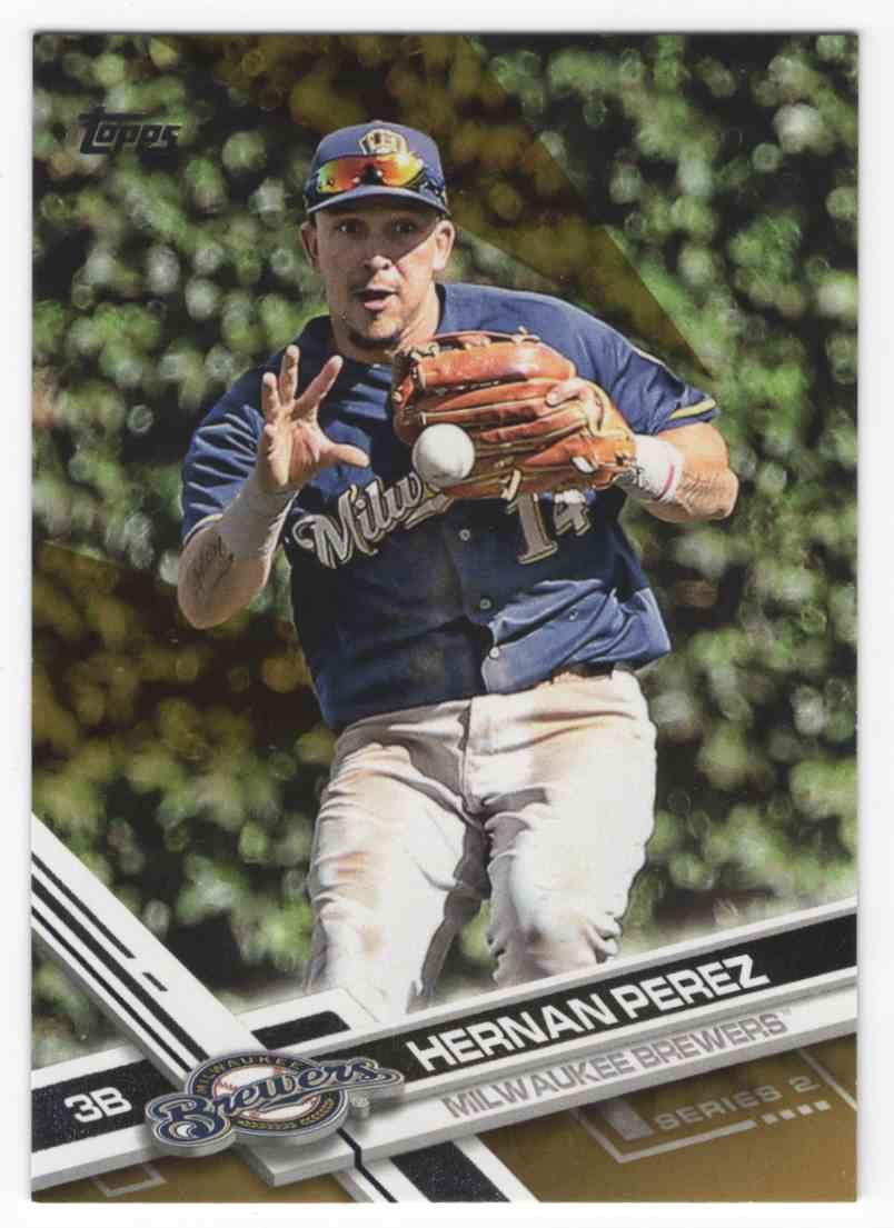 2017 Topps Gold Hernan Perez #458 card front image