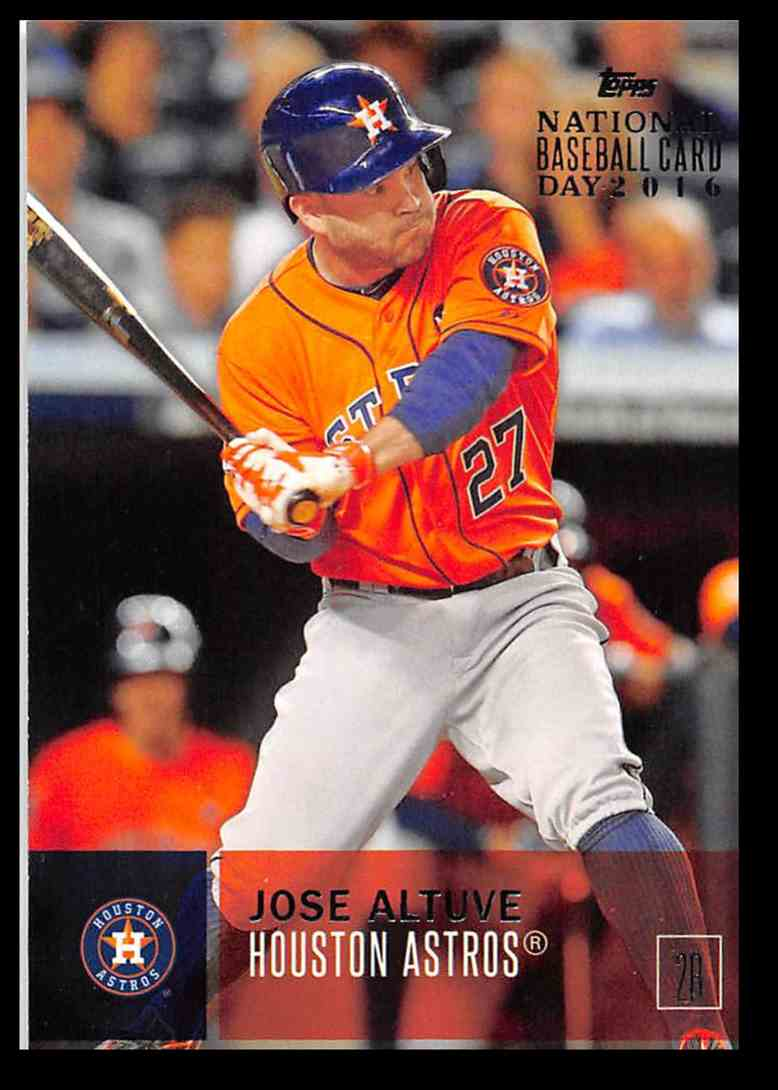 2016 Topps National Baseball Card Day Jose Altuve 44 On