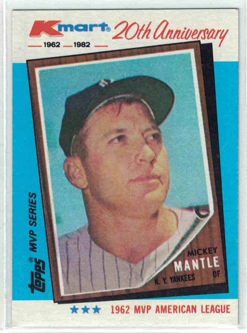 1982 Topps Kmart 20th Anniversary Mickey Mantle 1 On Kronozio