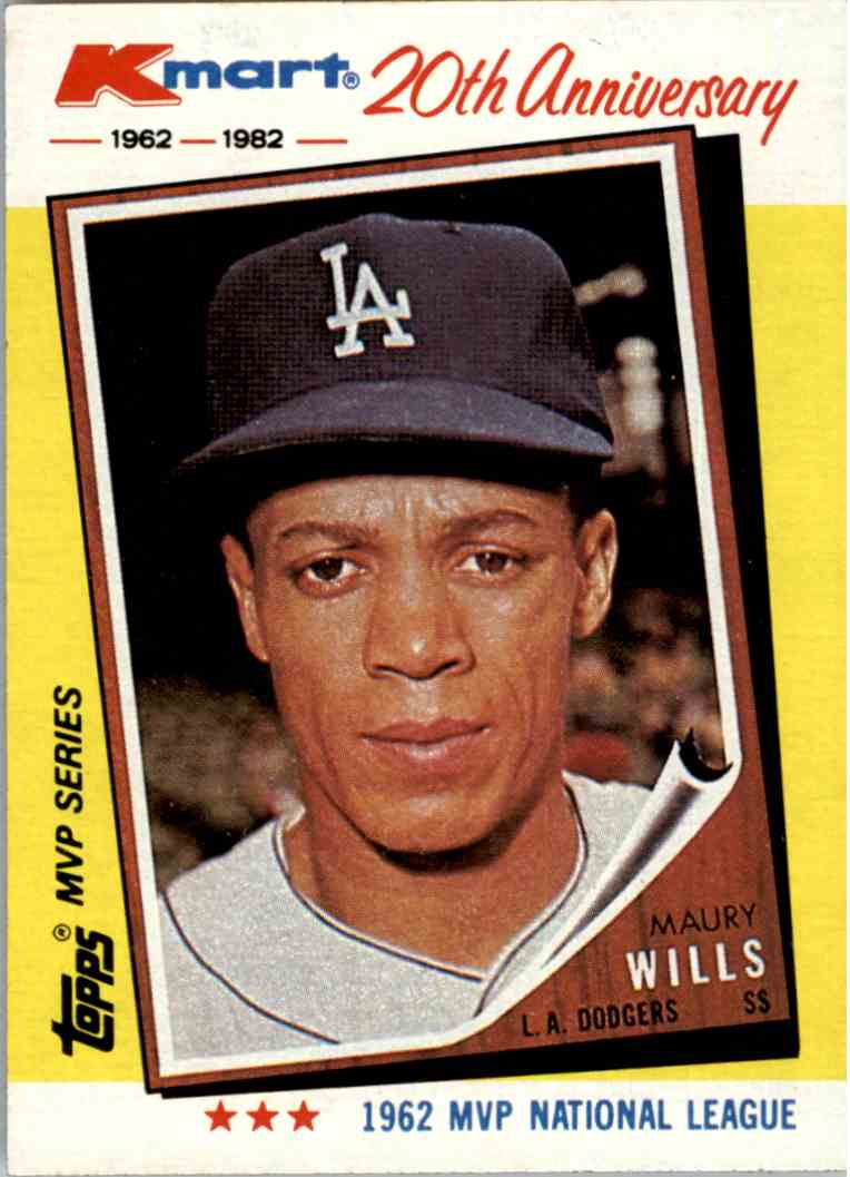 1982 Kmart 20th Anniversary Maury Wills 2 On Kronozio