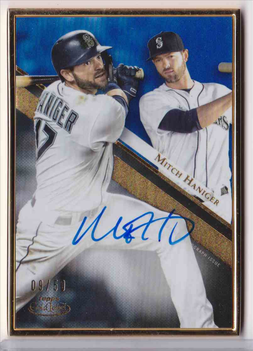 2019 Topps Gold Label Framed Autograph Blue Mitch Haniger #GLA-MH card front image