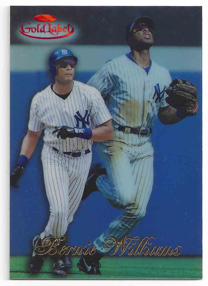 1998 Topps Gold Label Red Bernie Williams #76 card front image