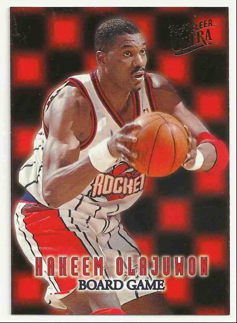 1996-97 Ultra Board Game Hakeem Olajuwon #13 card front image