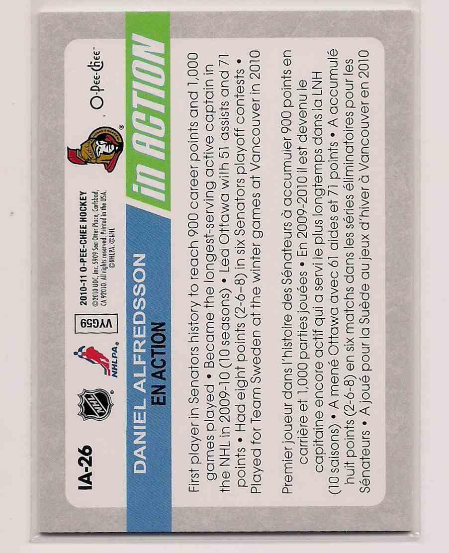 2010-11 O-Pee-Chee Daniel Alfredsson #IA-26 card back image