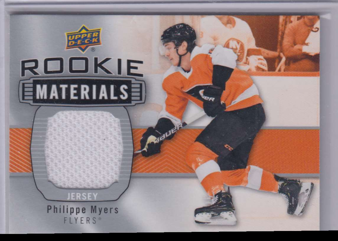 2019-20 Upper Deck Rookie Materials Philippe Myers #RM-PM card front image