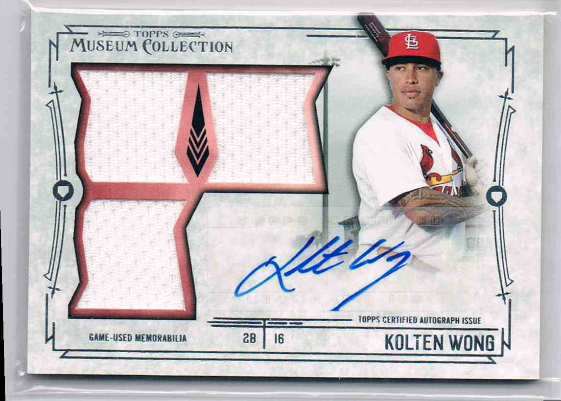 2015 Topps Museum Collection Kolten Wong #SST-KW card front image