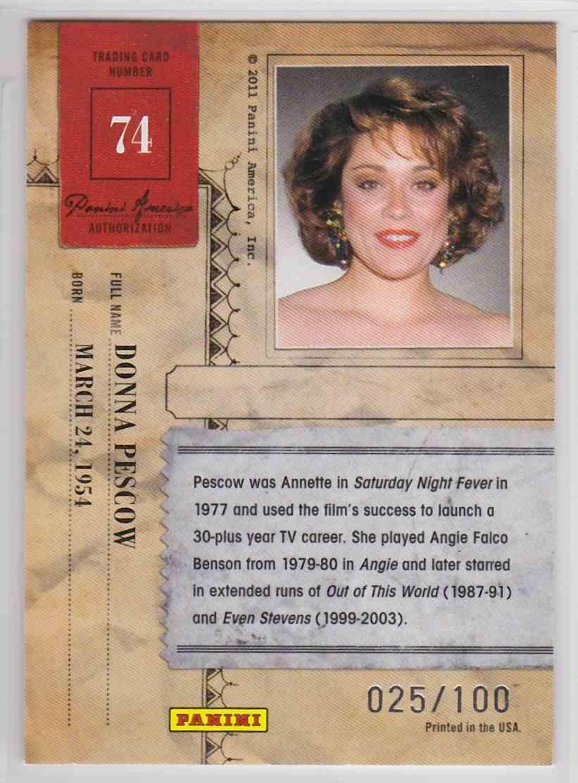 2011 Panini Americana Donna Pescow #74 card back image