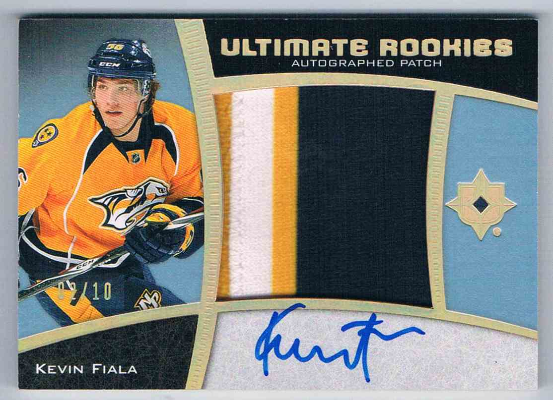 2015-16 Upper Deck Ultimate Collection Spectrum Gold Kevin Fiala #103 card front image