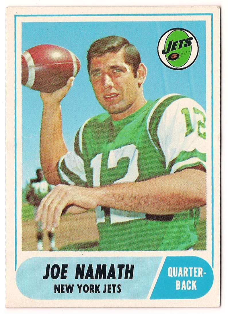 1968 Topps Joe Namath #65 card front image