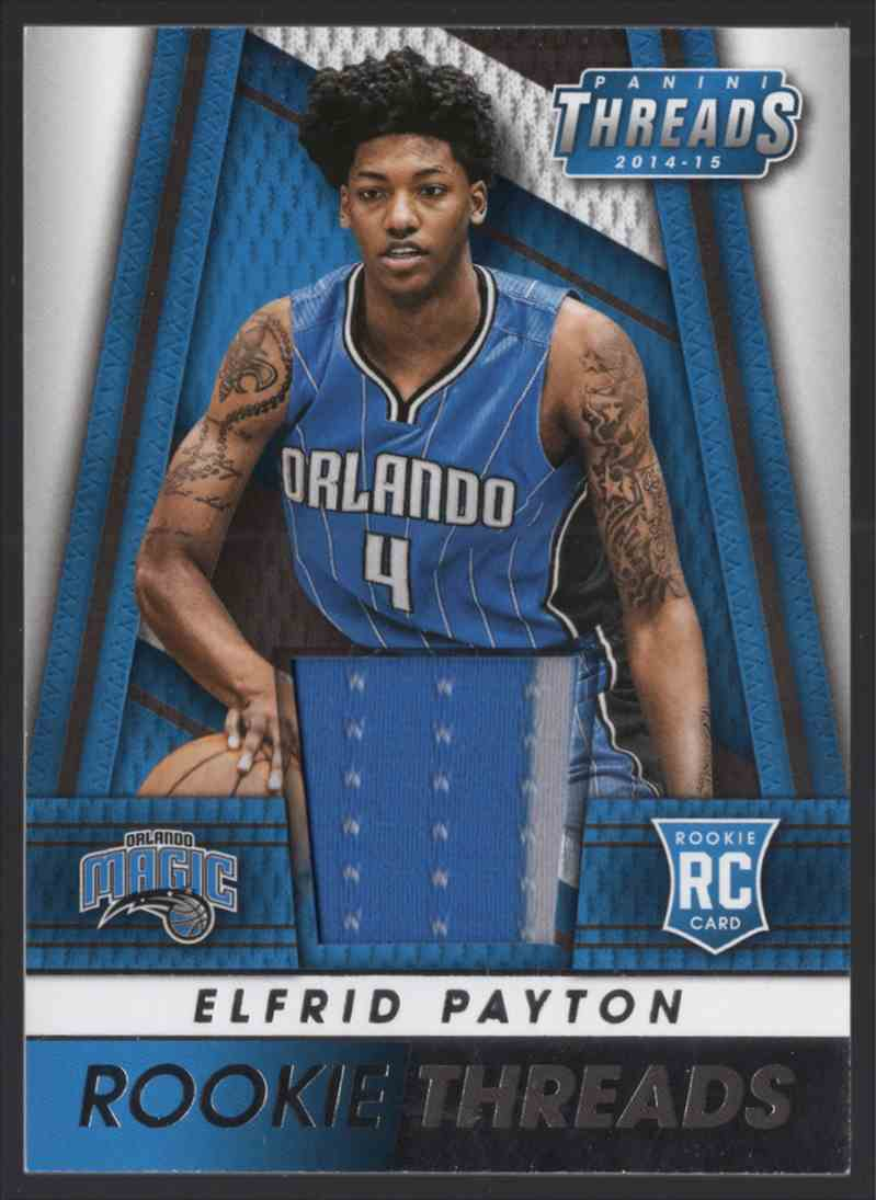2014-15 Panini Threads Rookie Threads Elfrid Payton #8 card front image