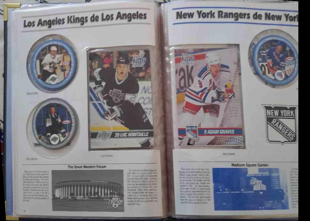 1993-94 Kraft NHL Wayne Gretzky, Luc Robitaille, Adam Graves, Etc #99 card back image