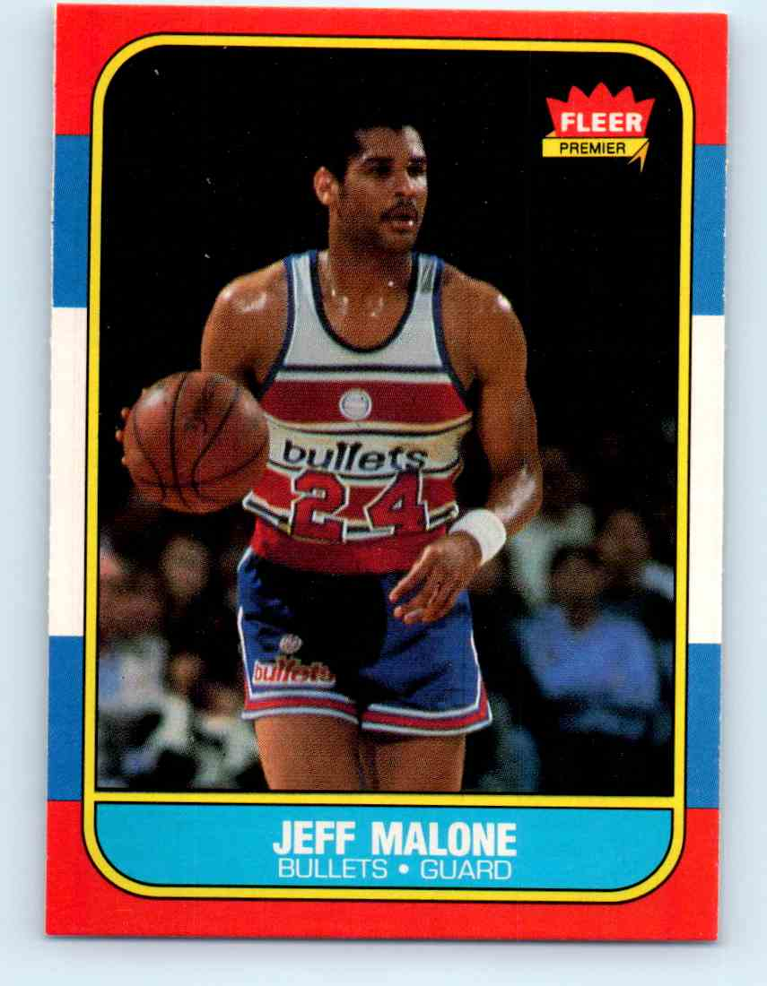 1986 87 Fleer Jeff Malone 67 on Kronozio