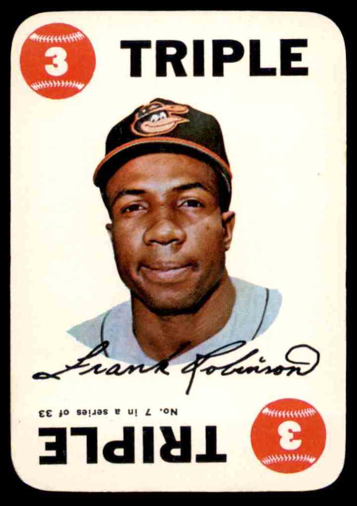 1968 Topps Game Frank Robinson #7 card front image