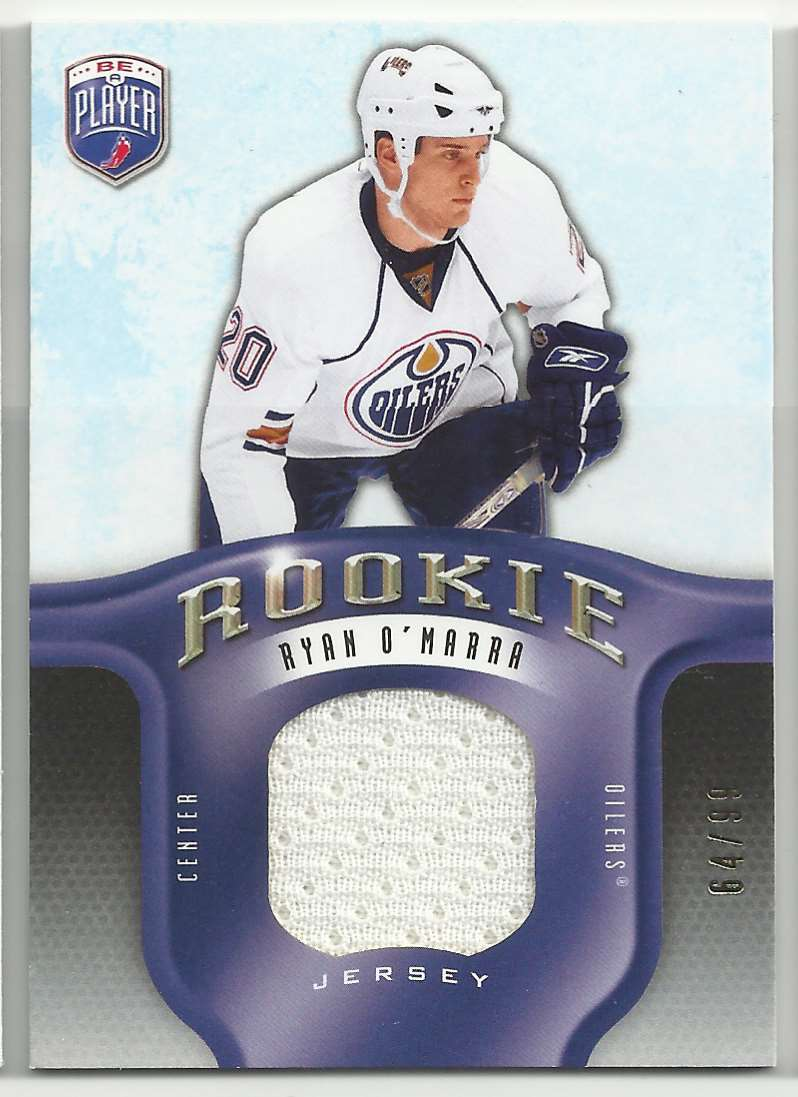 2008-09 Be A Player Rookie Redemption Bonus Ryan O'Marra #RR-287 card front image
