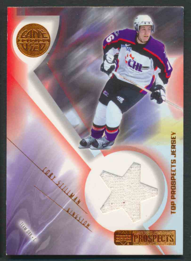 2001-02 Upper Deck CHL Prospects Cory Stillman #J-CS card front image