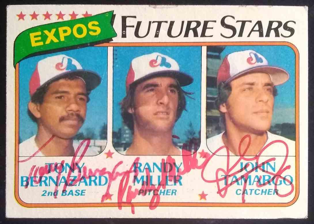 1980 Topps Tony Bernazard Randy Miller John Tamargo #680 card front image