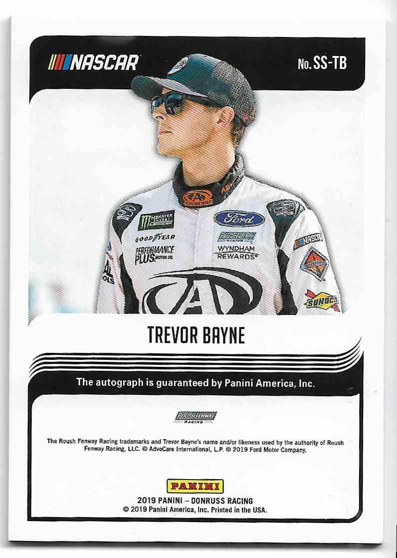 2019 Panini Donruss Trevor Bayne #SS-TB card back image