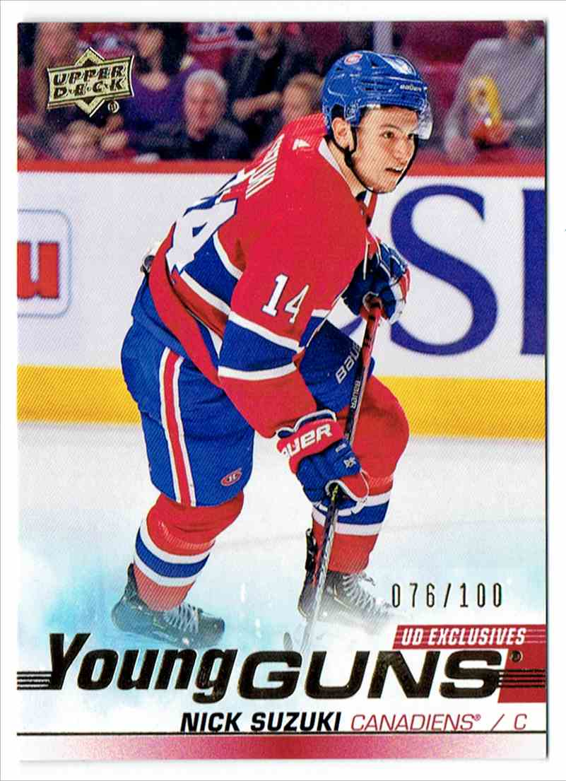 2019-20 Upper Deck Young Guns UD Exclusives Nick Suzuki #471 card front image