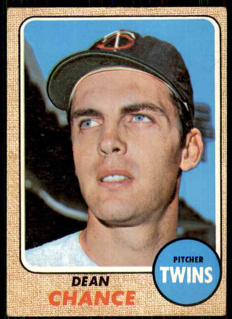 1968 Topps Dean Chance #255 card front image